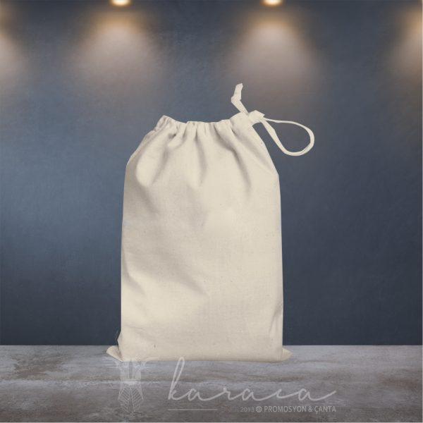 ağız büzgülü ham bez çanta promosyon