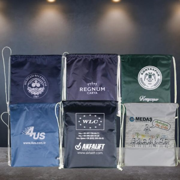 promosyon İp Büzgülü Tela Sırt Çantaları imperteks